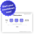 Create a new countdown now.